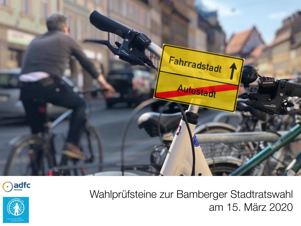 Wahlprüfsteine zur Bamberger Stadtratswahl am 15. März 2020 S. 1