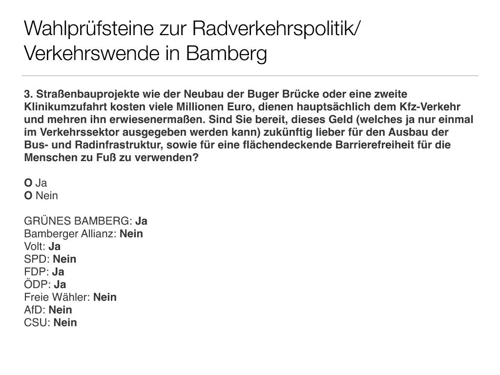 Wahlprüfsteine zur Bamberger Stadtratswahl am 15. März 2020 S. 5