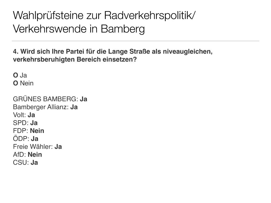 Wahlprüfsteine zur Bamberger Stadtratswahl am 15. März 2020 S. 6