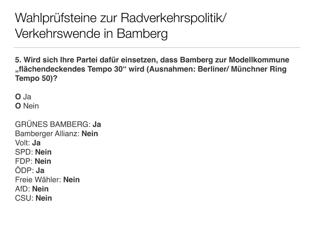 Wahlprüfsteine zur Bamberger Stadtratswahl am 15. März 2020 S. 7