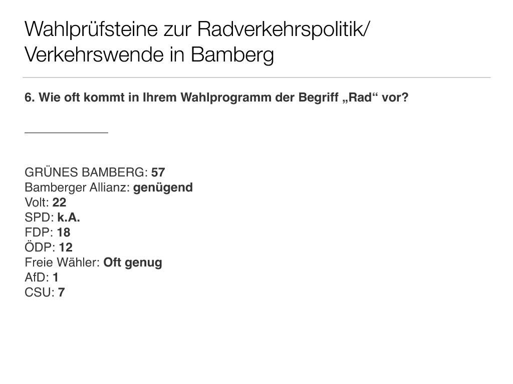 Wahlprüfsteine zur Bamberger Stadtratswahl am 15. März 2020 S. 8