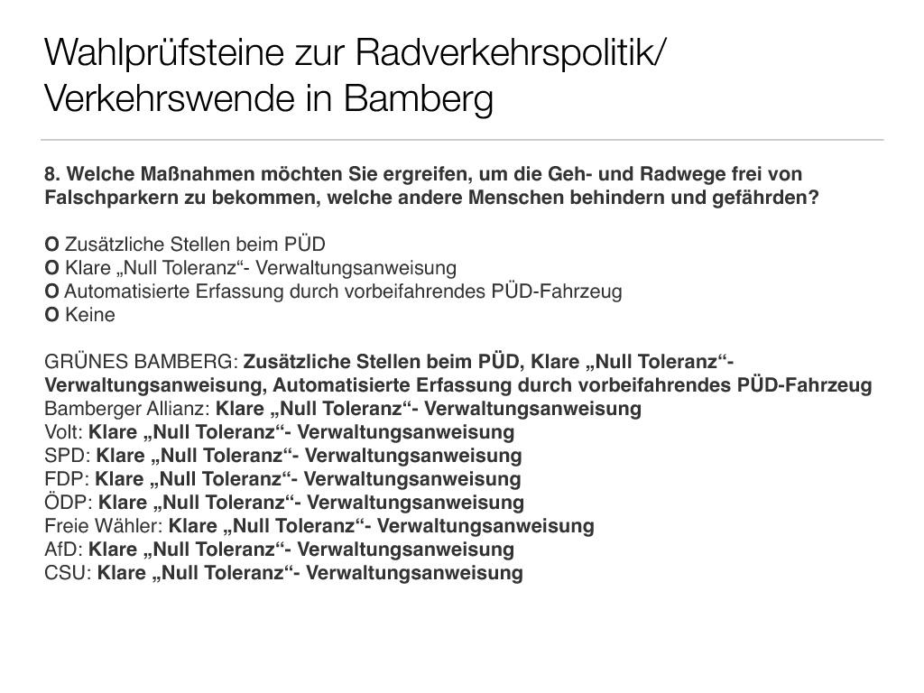 Wahlprüfsteine zur Bamberger Stadtratswahl am 15. März 2020 S. 10