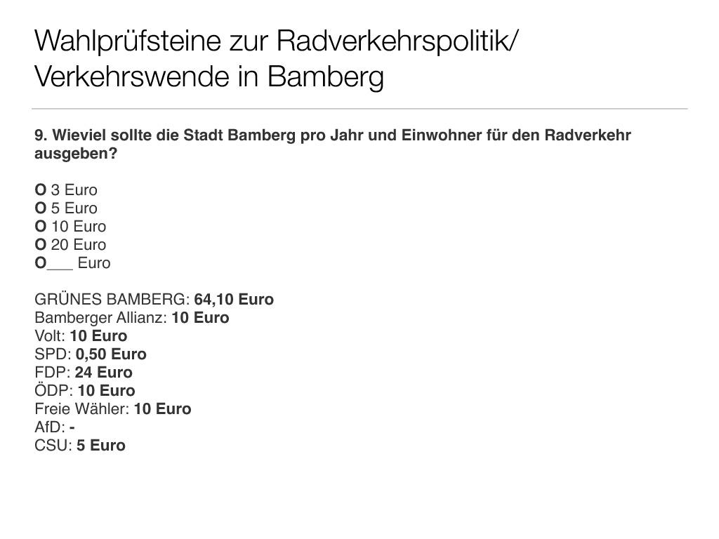 Wahlprüfsteine zur Bamberger Stadtratswahl am 15. März 2020 S. 11