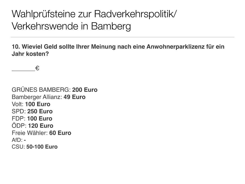 Wahlprüfsteine zur Bamberger Stadtratswahl am 15. März 2020 S. 12